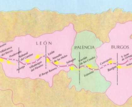 French Way Route Map