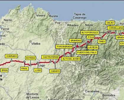 Primitive Way map, the original route