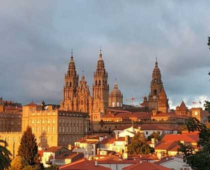 Santiago de Compostela Cathedral. View from Alameda's park